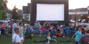 People from Hudson, OH and surrounding communities gathered to watch Avatar on our 25' x 15' screen.  This was our largest event to date and the Fire chief estimated we had over 800 people attending.