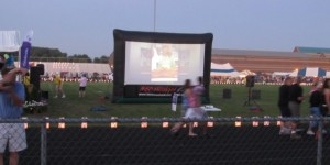 Relay for life event in Wooster, OH.  Hundreds of people watched on our 16' x 9' screen.